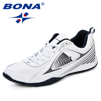 BONA Man Footwear Breathable Shoes For Men Sneakers Spring Autumn Trainers Lace Up Sapato Masculino Walking Shoes Zapatos Hombre