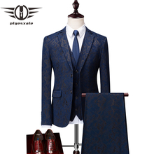 Plyesxale 3 Piece Men Suits Brand Terno Masculino Slim Fit Wedding Suit For 2018 Mens Party Wear Jacket Pants Vest Q54