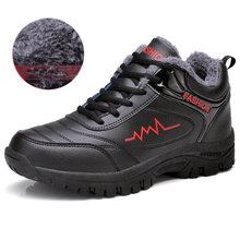 hot deal buy new winter warm shoes men's ankle shoes waterproof rubber men snow with fur comfortable autumn casual work shoes 39-44