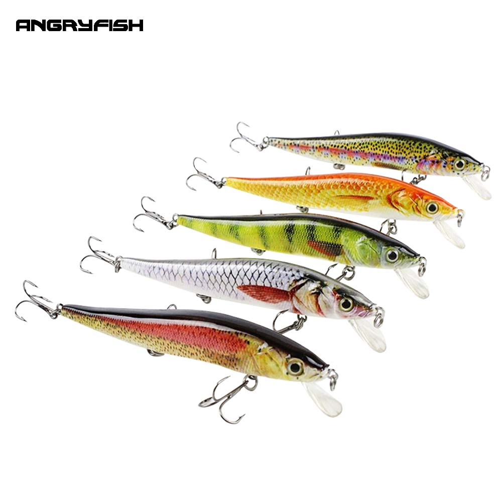 Angryfish hot sale 5pcs 90mm fishing lures realistic for Fishing tackle sale