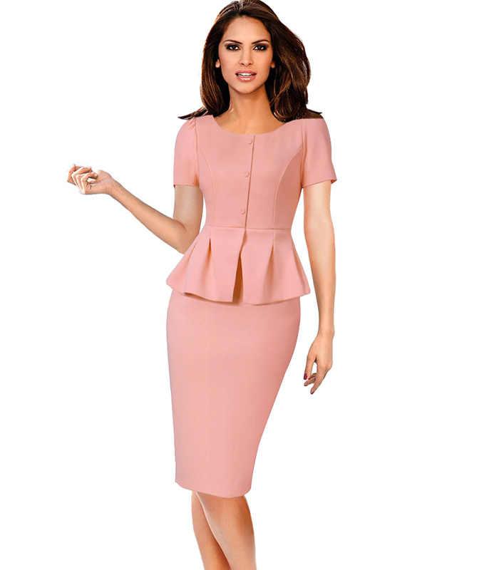 Vfemage, женское, винтажное, элегантное, с баской, на пуговицах, с пышными рукавами, тонкое, для работы, бизнеса, офиса, церкви, вечерние, бодикон, платье-футляр, 1309