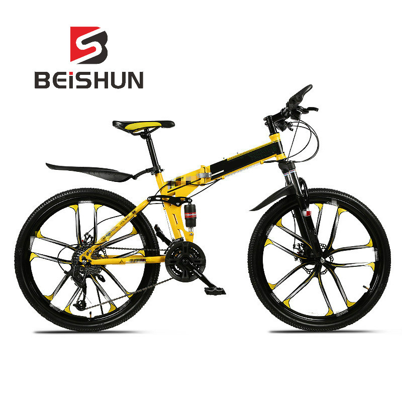 Variable Speed Folding Bicycle 26 Inch Double Shock Absorption Ten Knife Wheel Mountain Bike