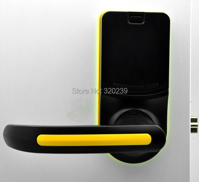 Black+Yellow ADEL LS9 Cost Effective Reversible Handle Fingerprint Door Lock 3 In 1 (Fingerprint+Password+Key)
