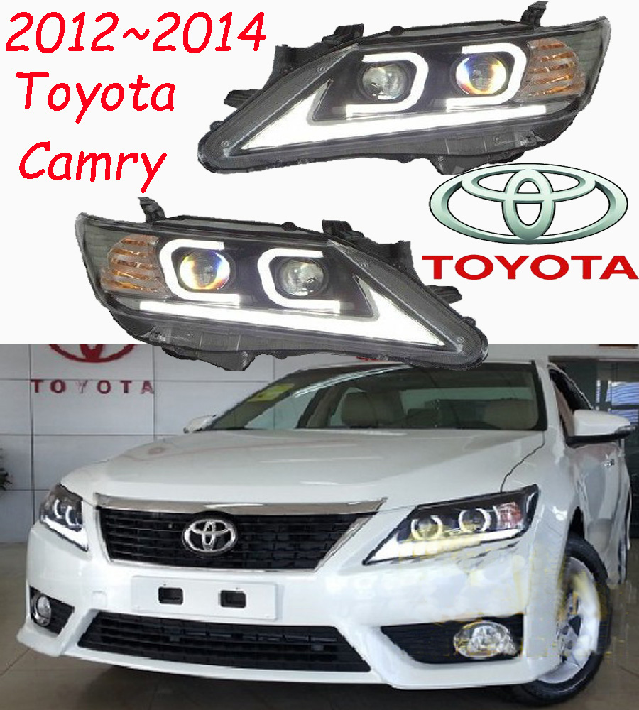 car-styling,Camry headlight,2012~2014,Free ship!2pcs,Camry fog light;car-covers,chrome,Camry head light car styling camry