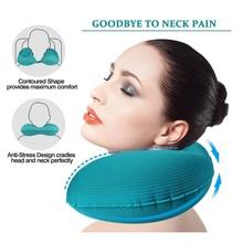 Travel Pillows Neck Pillow U-Shape Automatic Inflatable Cervical  Airplanes Super Light Portable 50P028