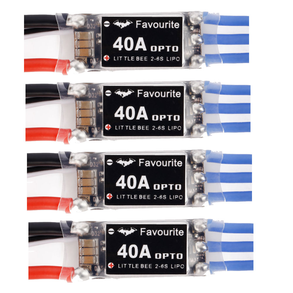 Favourite Little Bee 40A ESC BLheli OPTO 2-6s Lipo for Fixed Wings Drone Multirotor Quadcopter Hexacopter