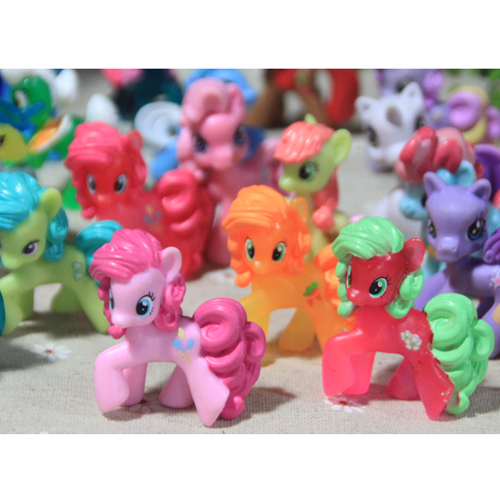 3 unids my little pony acción loose figuras de juguete 4-6 cm pony littlest figu