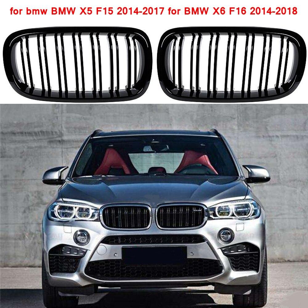 Para BMW F15 grade linha de frente substituição grade de rim gloss preto para X5 X6 F15 2014-2017 para BMW f16 2014-2018