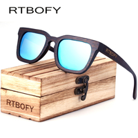 RTBOFY New Luxury Men S Sunglasses Wood Casual Polarized Lens Sun Glasses For Men With Wood