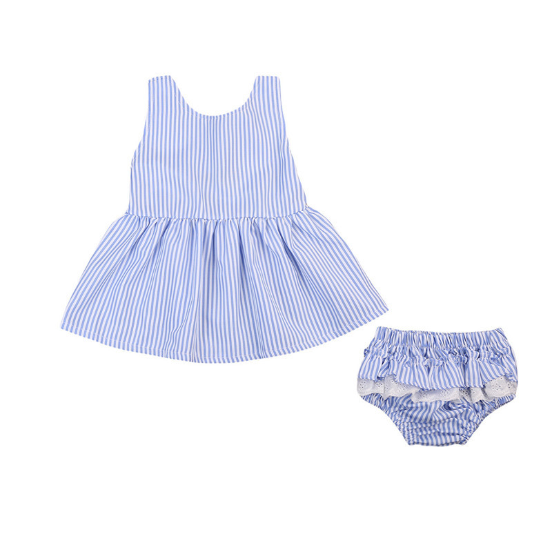 2PCS Toddler Baby Girls Clothes Kid Bowknot Princess Sleeveless Tutu Dress Short Pant Outfit Baby Clothing Set