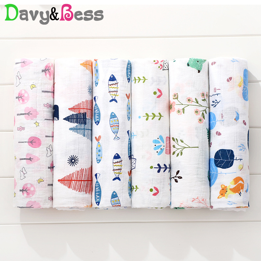 Cotton Muslin Swaddle Wrap Baby Blanket Newborn Children's Blankets For Baby Swaddle Muslin Blanket Squares Baby Bath Wrap 120