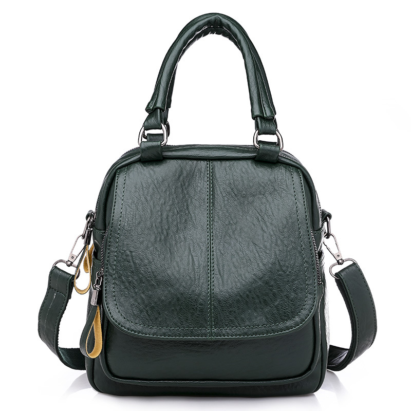 Women Female Leather Backpacks For Teenage Girls Soft PU Casual Covertible Shoulder Bags
