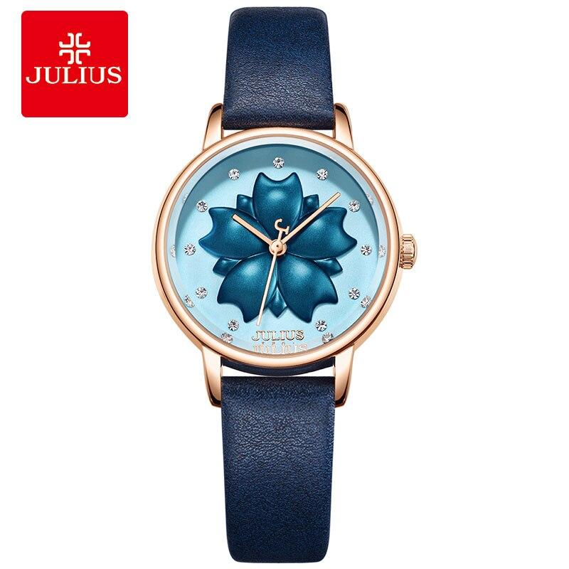 Julius JA-1000 Flower Watch 2018 New Designer Clock Luxury Ladies Dress Wach Fashion Hand Whatch Waterproof Montre Relojes Mujer