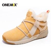 ONEMIX Yeni Kış kadınlar için Koşu Ayakkabıları Rahat bayan botları Sıcak Yün Sneakers Açık Unisex Atletik Spor Ayakkabı kadın