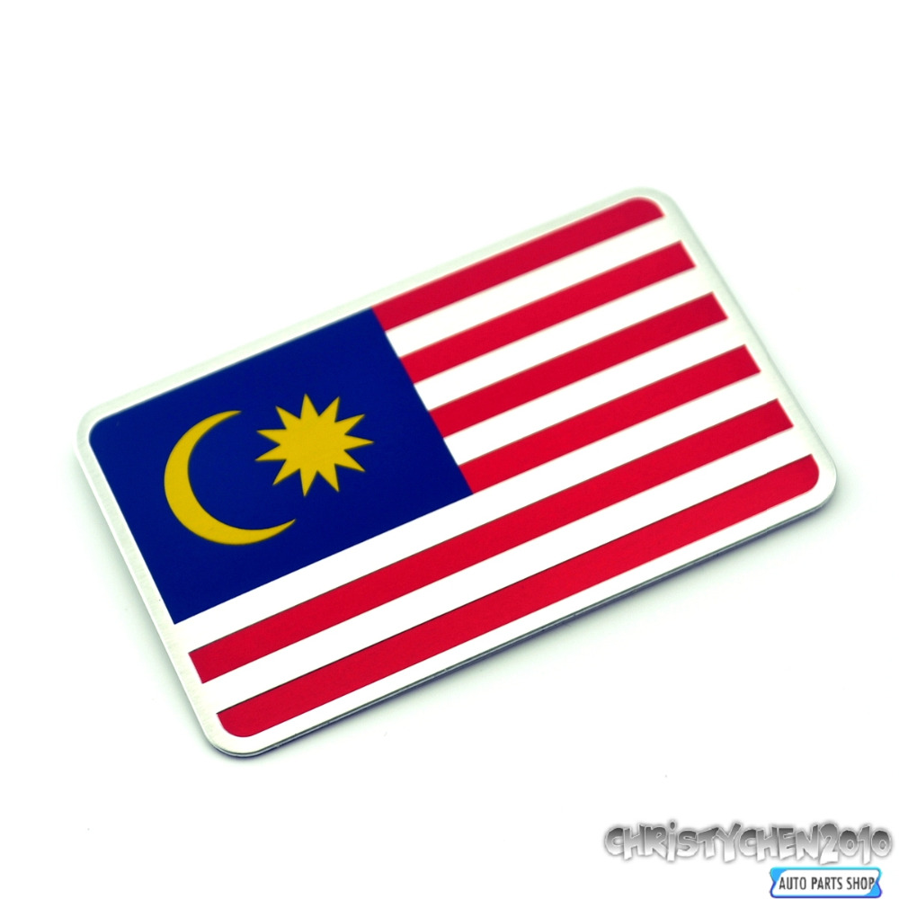 Car sticker custom malaysia - Malaysia National Flag Aluminum Car Badge Emblem For Perodua Viva Mira 409