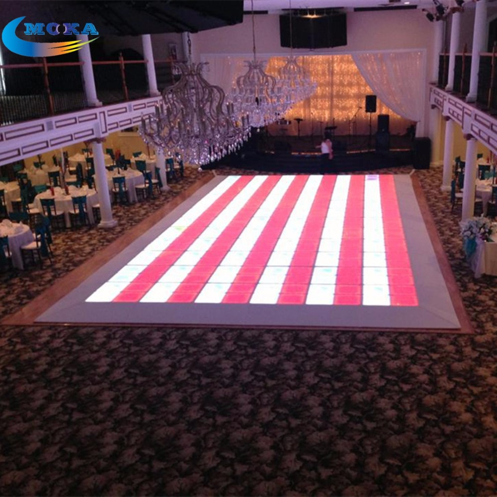 48 Square Meters Only ship to long beach USA DMX Led Dance Floor Led Wedding Disco Floor Lights RGB panel Dancing Floors 48 square meters led matrix dance floor professional sound led dance floor light dj party dance floor