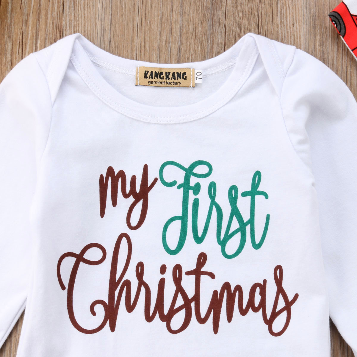 2bd9a42787f7 2019 Emmababy New Cute 3pcs Newborn Infant Baby Boy Girl Xmas Christmas  Clothes Romper Pants Set 0 18M-in Clothing Sets from Mother   Kids on  Aliexpress.com ...