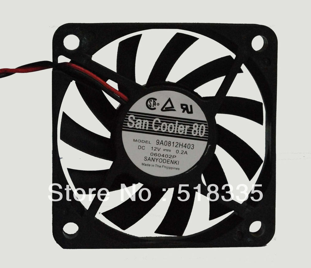 Free Shipping!!SANYO SANYO graphics card cooling thin fan 6010 12V 0.2A dual ball 6cm 60 * 60 * 10mmWholesale!! pla0815s12hh 12v 0 35a graphics cooling dual fan for gainward geforce gtx680