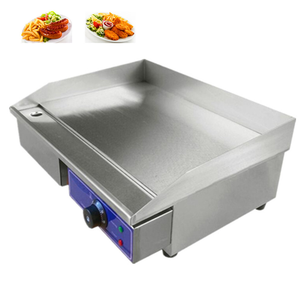 Fast Ship from Germany Cheap  stainless steel electric griddle grill flat plate cooking machine commercial DE stock free ship new premium fast food equipment commercial package double grilled hamburger machine price