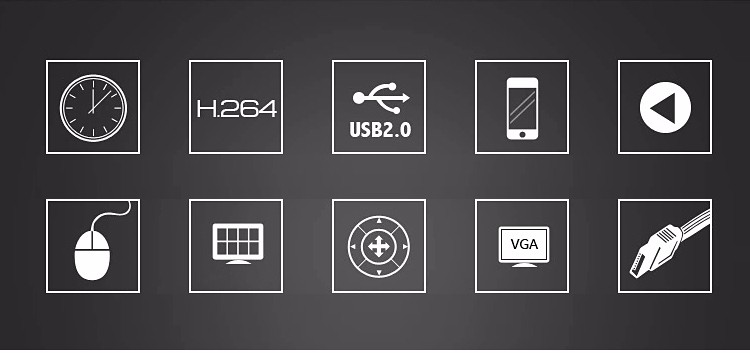 Dvr 4 Channel 1080P, 1080N.960P.720P Three in One NVR AHD DVR Gambar 01