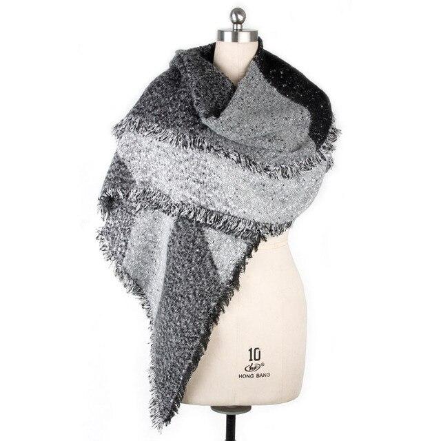 1 pz moda Donna Spessa Calda Lana Cachemire di Pashmina Stole Sciarpe  Invernali Sciarpa Scialle Involucri b7460c86aadb