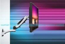 """GM112W Mola A Gás de Alumínio 360 Graus de Movimento Total Altura Ajustável 15 """"-27"""" Monitor LCD Suporte de Parede TV Suporte de montagem Do Braço"""