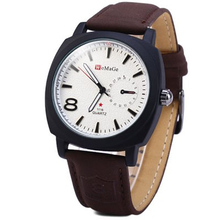 2017 New Business Casual watches Men Luxury Brand WoMaGe Watches Leather Strap Man Sports Military wristwatch montre homme saat