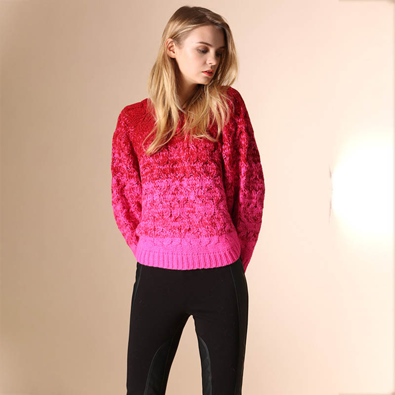Runway 2017 Pullovers Sweaters Womens Knit Autumn Winter Fall Fashion Christmas Oversize Sweater Girls Knitted Cashmere Cute Top