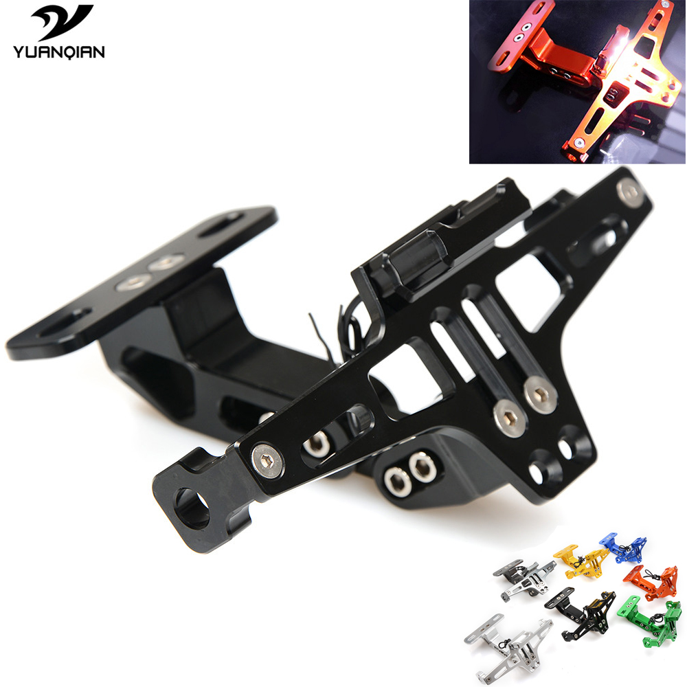 Motorbike CNC License Plate Bracket Holder Registration Plate Holder For Honda CB400 NC750 NC559 NC750S nc750x CG125 MSX 125 motorcycle tail tidy fender eliminator registration license plate holder bracket led light for ducati panigale 899 free shipping