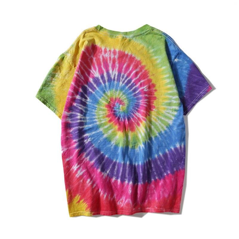 7f41e1121bcd2f Moomphya Bright spiral tie dye print men t shirt Paisley printed t-shirt  men camisetas hombre hip hop top tshirt men summer