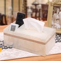 Caja de almacenamiento de escritorio de control remoto simple de estilo europeo caja de almacenamiento multifuncional de sala de estar blanca de resina