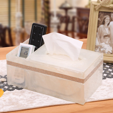 European style simple remote control desktop storage box resin white living room multifunctional storage box стоимость