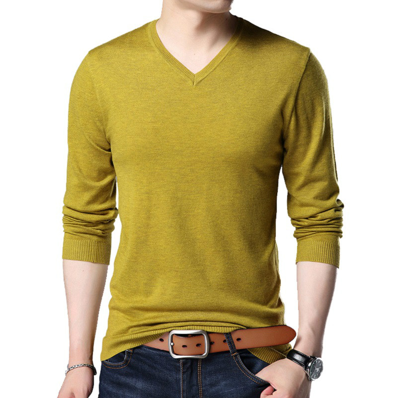 2019 Mens Sweaters Hombres Pullover O-neck Slim Fit Knitting Hombres Long Sleeve Sweaters Fashion V-neck Big Size