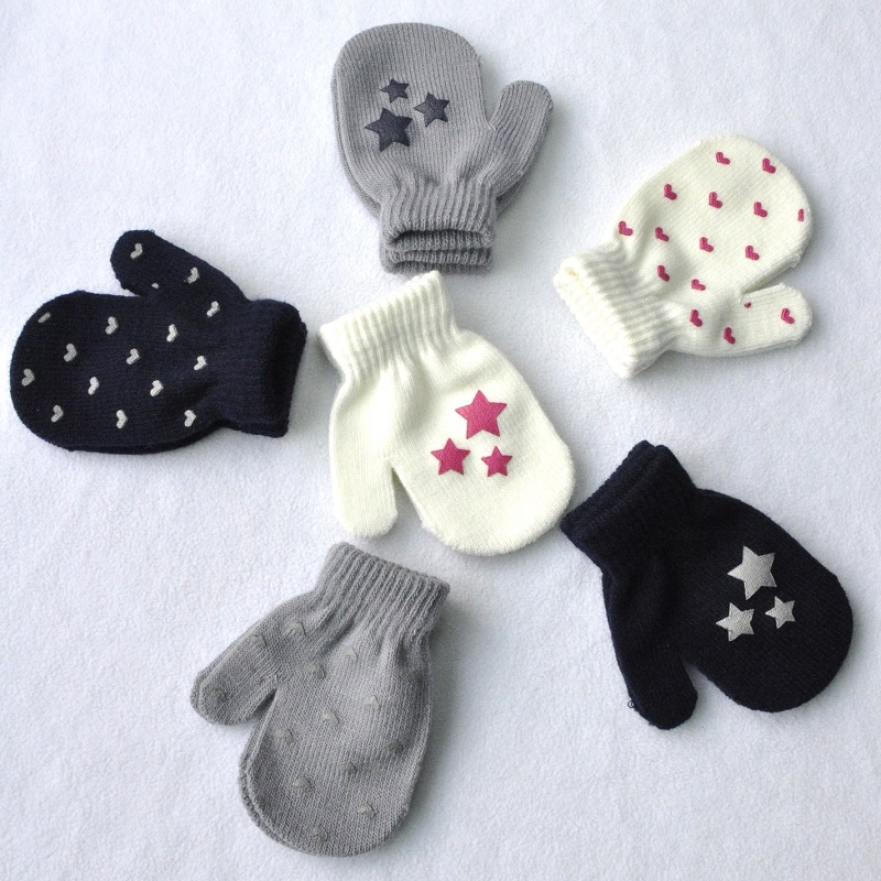 Knitted Baby Gloves