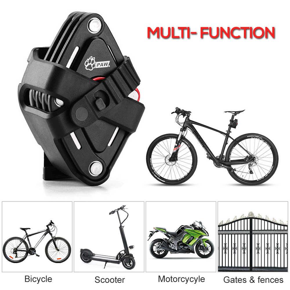 Лапа велосипедный замок новая складная конструкция с 2 клавиши сильный безопасности Противоугонная велосипедный замок сплав кронштейн Горный Дорожный велосипедный замок