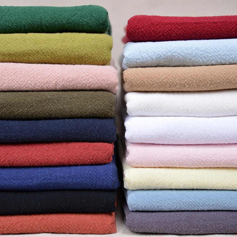 Washed linen cloth Chinese style Bamboo fiber fabric Fold crepe linen for dress trousers summer T-shirt curtain 130*50cm