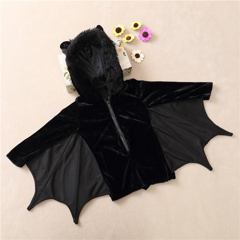 Baby Child Animal Cosplay Cute Bat Costume Kids Halloween Costumes For Girls Black Zipper Jumpsuit Connect Wings Batman Clothes-in Girls Costumes from ... & Baby Child Animal Cosplay Cute Bat Costume Kids Halloween Costumes ...