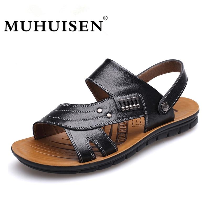 MUHUISEN Muška 100% Genuine Leather Sandale Novi Famous Brand Casual - Muške cipele - Foto 2