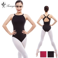 Women Camisole Ballet Leotard With Lace Red Leotard For Dance Costume Gymnastic Leotard Ballet Costumes For