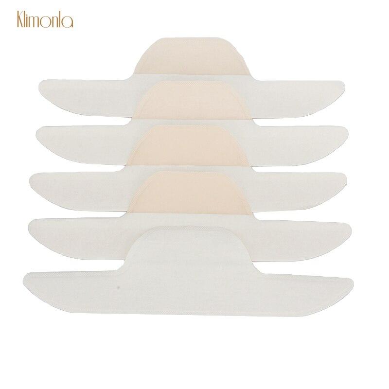 150pcs White Collar Disposable T-shirt Absorbing Sweat Pads Self-Adhesive Anti-dirty Collar Deodorant Pads Makeup Tools