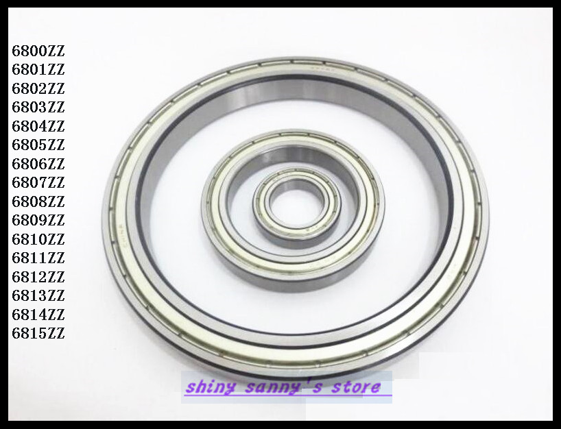 1pcs 6815ZZ 6815 ZZ 75x95x10mm Metal Shielded Thin Wall Deep Groove Ball Bearing Brand New 5pcs lot f6002zz f6002 zz 15x32x9mm metal shielded flange deep groove ball bearing