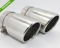 A Pair CHROME EXHAUST MUFFLER TIP Tips Pipes For VW Volkswagen Beetle 2012 2013