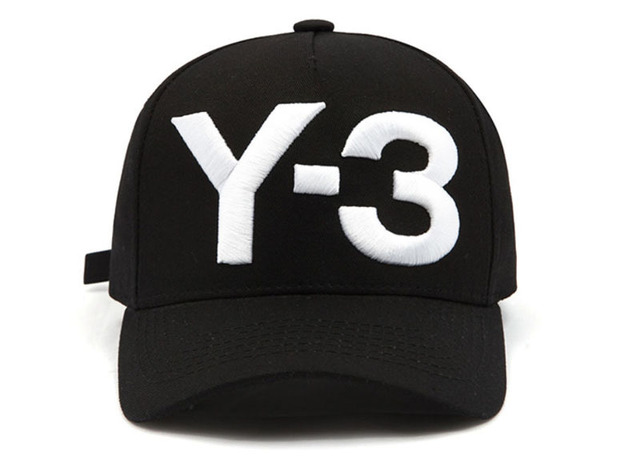 89cec4961db64 New Y-3 Dad Hat Big Bold Embroidered Logo Baseball Cap Adjustable Strapback  Hats Y3 caps