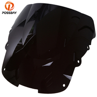 POSSBAY Motorcycle Windshield Double Bubble Cafe Racer Scooter Windscreen Bicicleta Wind Deflector for Honda CBR 1100XX 96 07