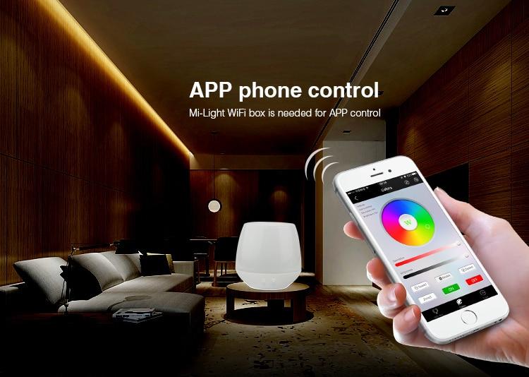 2 4G wireless control Mi Light LS2 DC12V-24V 5 in 1 Smart LED Controller  for Single Color, CCT, RGB,RGBW,RGB+CCT LED Strip light