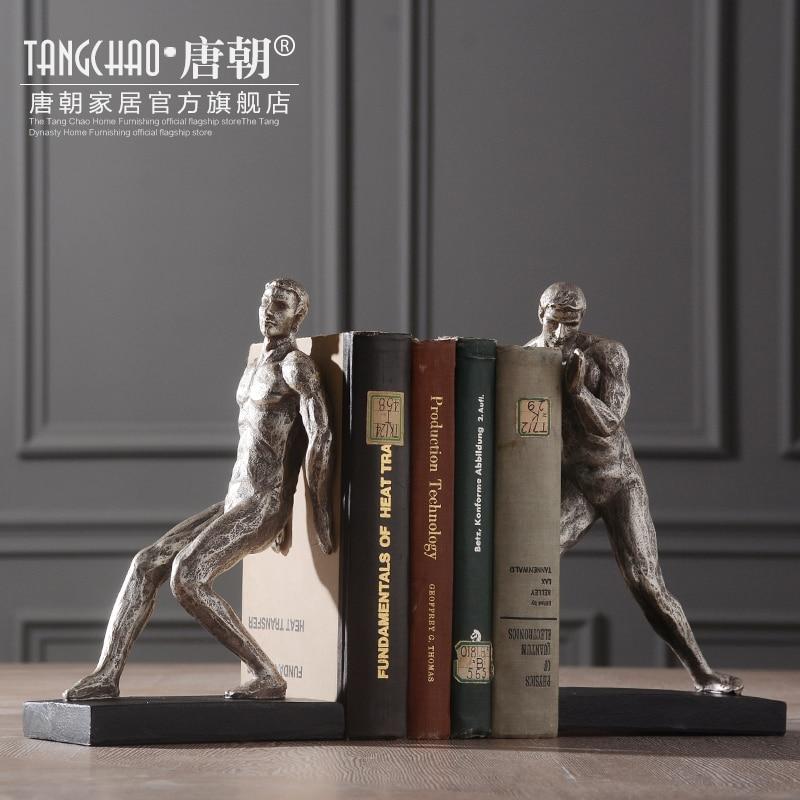 Style nordique livre de corps humain américain antique gymnastique serre-livres humains de décor minimaliste scandinave étude de la maison décoration