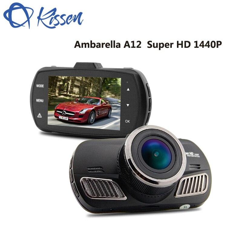 Киссен 2,7 дюймов Full HD 1440 P Ambarella A12 2560*1440 P 5,0 МП COMS Видеорегистраторы для автомобилей тире Камера HDR автомобиля Камера регистраторы ADAS gps навига...