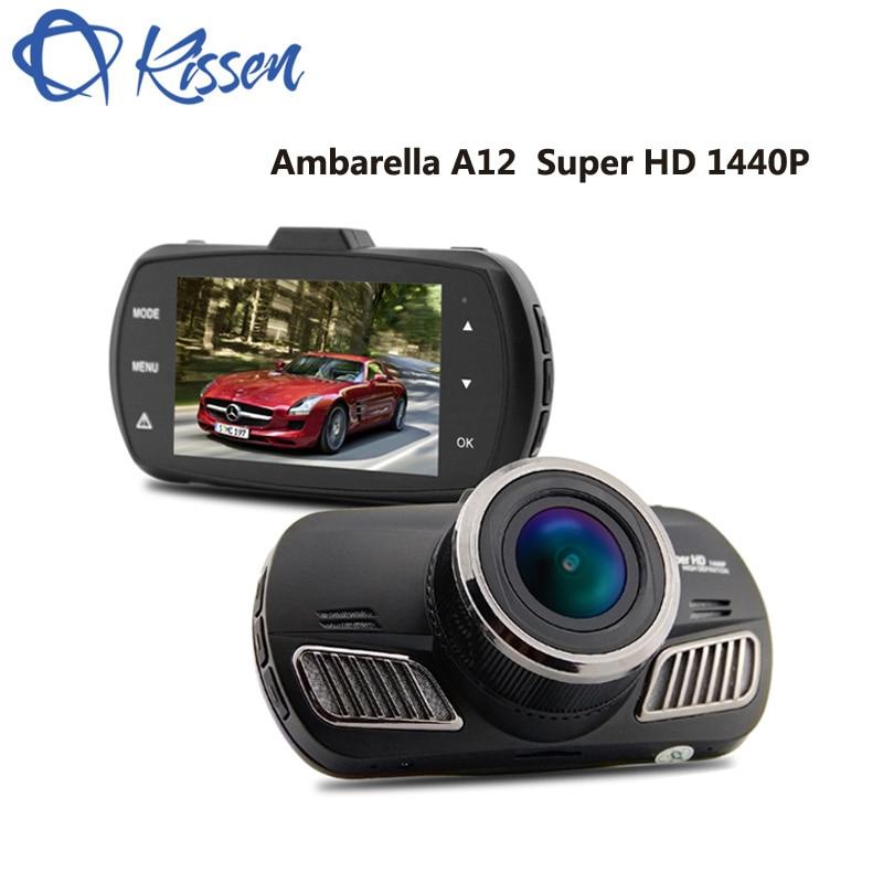 Kissen 2.7 pouce FHD 1440 p Ambarella A12 2560*1440 p 5.0 MP COMS Voiture DVR Dash Caméra HDR voiture Caméra Dash Cam ADAS GPS Navigation