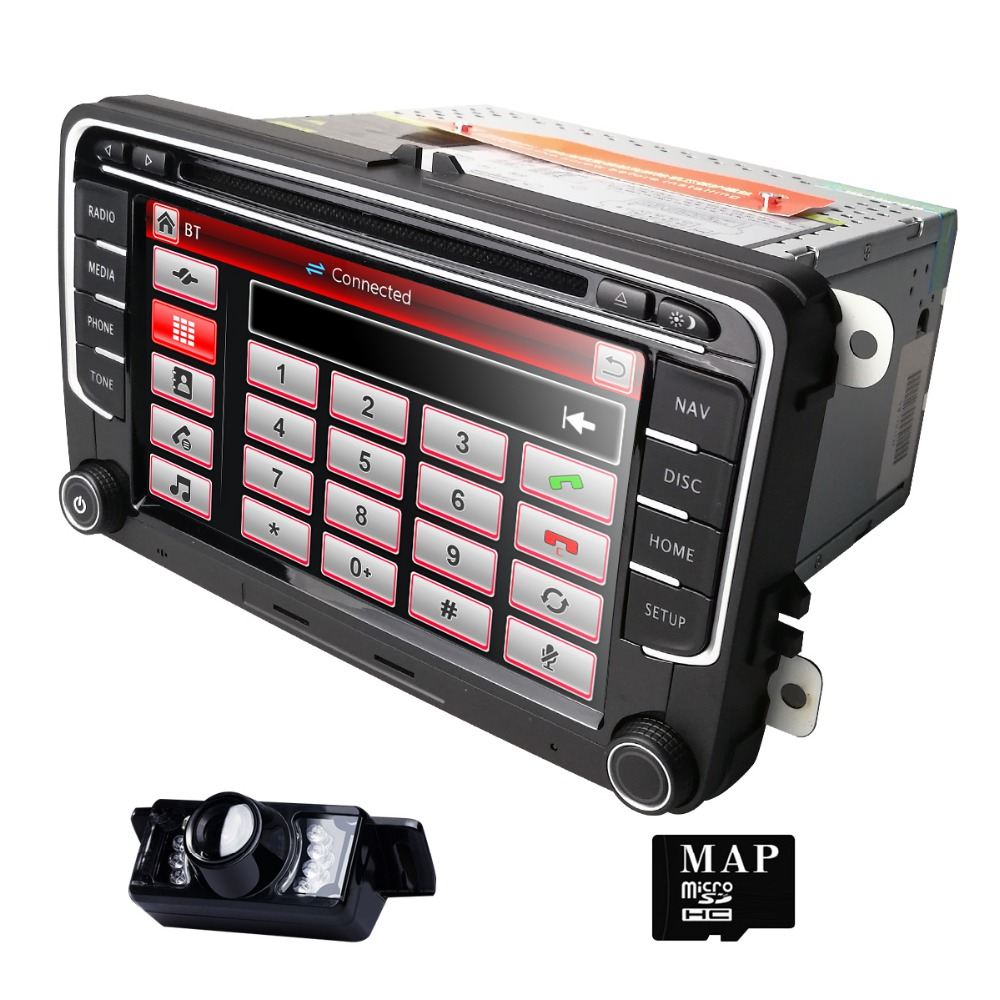 Hizpo 2DIN Car DVD Play AutoRadio GPS For Volkswangen Passat Sedan/Wagon/Alltrack/CC Touran Tiguan Sharan Bluetooth 3G USB 1080P