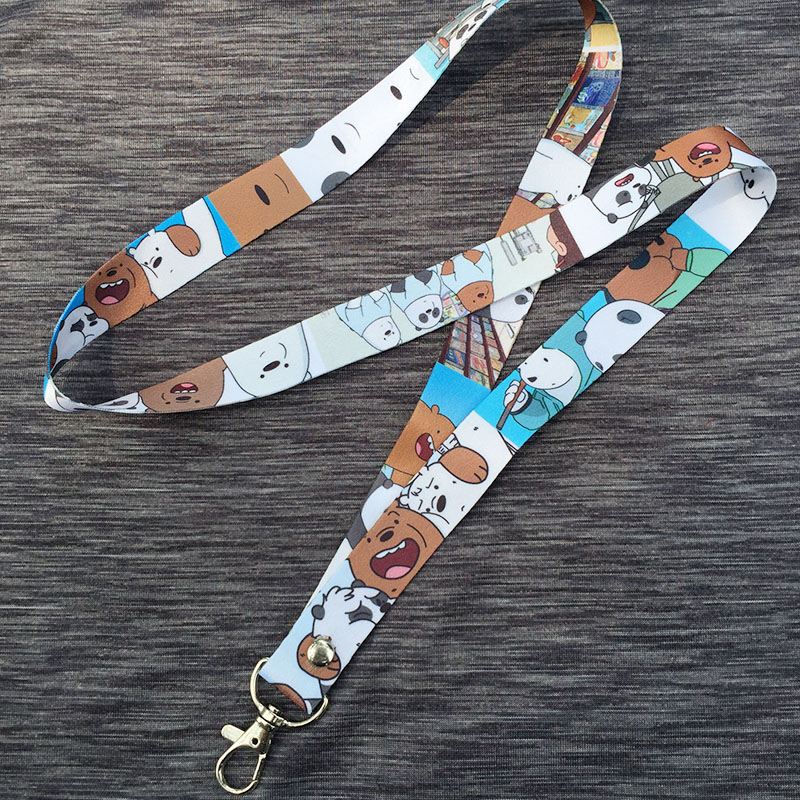 TV CN We Bare Bears ice bear panda grizzy Neck Lanyard